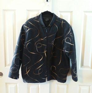 Staples Embroidered Swirl Design Jacket
